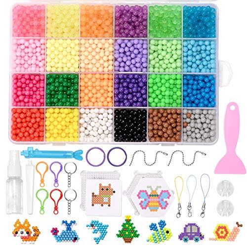 ZITFRI 3500pcs Recharge Perles Eau Pearl Beads DIY 24 Couleurs avec Accessoires