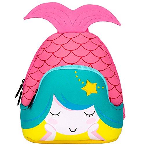 Moonmo Toddler Kids Waterproof Pre School Bag Cute 3D Animal Children School Backpack Mermaid Pink