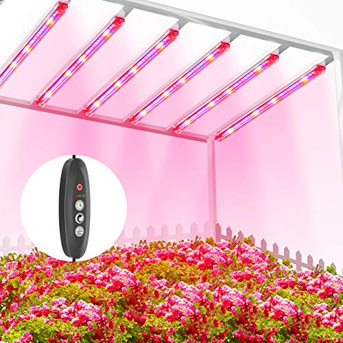 TOPLANET Pflanzenlampe Led, Pflanzenlicht Röhre 60W T5 LED Pflanzenlicht Vollspektrum mit Rot Blau Licht, Pflanzenleuchte mit Auto Timer 3/6/12H, 3 Beleuchtungsmodi Grow Led Lampe für Zimmerpflanzen