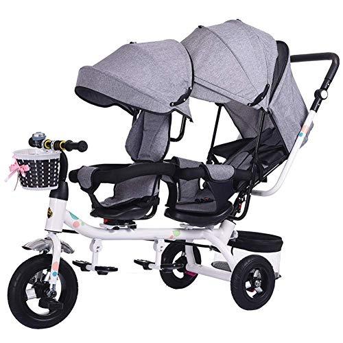 MAOSF Sillas de paseo Sillones Mellizos Triciclos Niños Dobles Bicicletas Gemelos Carrito de bebé 1-7 años Coche de bebé