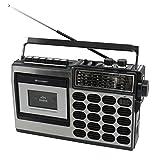 Soundmaster RR18SW Retro Radio Kassetten Rekorder mit USB/SD Aufnahme