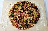 hs-kamine Pizzastein Brotbackstein Flammkuchenstein Massive Schamotte Lebensmittelecht 40 x 30 x 2,5 cm für Backofen Ofen Herd Grill für Pizza Brot Flammkuchen incl. Anleitung