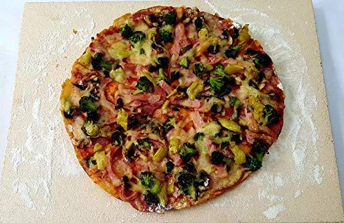 40 x 30 x 2 cm Schamottplatte Pizzaplatte Backofenplatte Schamottstein Schamott Schamotte Lebensmittelecht incl. Anleitung