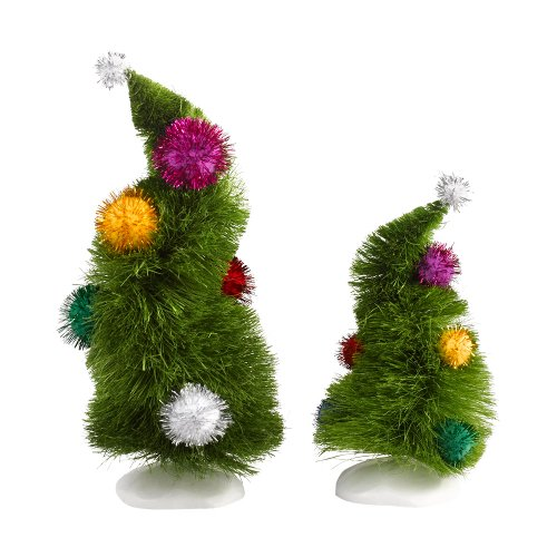 Department 56 Grinch Villages Wonky Trees (Set of 2)