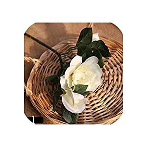 Vicky 10 Pcs Simulation Artificial Flower for Wedding Party and Home Gardenia Flower Artificial Gardenia Plant Jasmine Indoor Plant