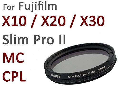 Filtro PRO II MC de Polarización para Fujifilm X10 / X20 - Hilo especial 40mm para el uso directo - Hecho de Vidrio óptico de alta calidad