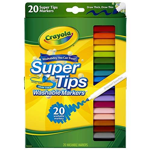 Crayola 20 Super Tips Hidrocor Ponta Fina Washable Markers