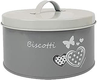 Contenitore in Ceramica Bianca con Tappo Salva Freschezza per Cucina Dispensa Biscottiera Barattolo per Biscotti e Dolci