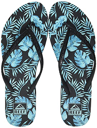 Reef Seaside Prints, Chanclas Mujer, Mint Leaves, 37.5 EU