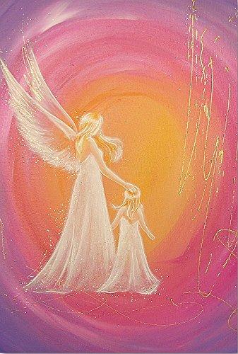 Henriettes-ART Engel Taufgeschenke für Mädchen,Geschenk zur Geburt auch für Junge Eltern: Immer da Schutzengelbilder, Wanddeko Engel