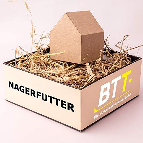 BTT Nagerfutter Wiesenheu (1. Schnitt) Futter für Kleintiere, Kaninchen, Meerschweinchen, Hasen (3kg)