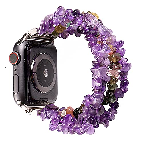 Livronic Correa de repuesto para Apple Watch de 42 mm 44 mm para mujer, de moda, de ojo de tigre natural, correa de repuesto IWatch Series 5, 4, 3, 2, 38 mm, 40 mm, compatible con Apple Watch