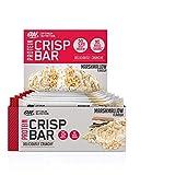 Optimum Nutrition Protein Crisp Bar Barritas Proteínas con Whey Protein Isolate, Dulces Altas en Proteína y Low Carb, Malvavisco, 10 Barras (10 x 65 g)