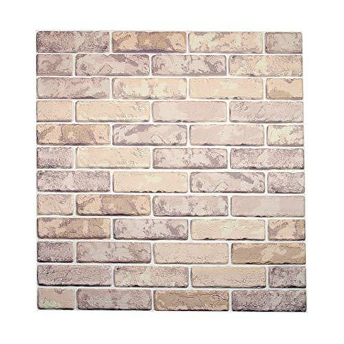 HWTOP 3D Ziegelstein Tapete, Selbstklebend Brick Muster Tapete, Fototapete~Wandaufkleber für Schlafzimmer Wohnzimmer Moderne tv Schlafzimmer Wohnzimmer dekor