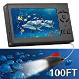 RICANK Underwater Fishing Camera, Portable 100FT Fish Finder Camera HD 1000 TVL LED