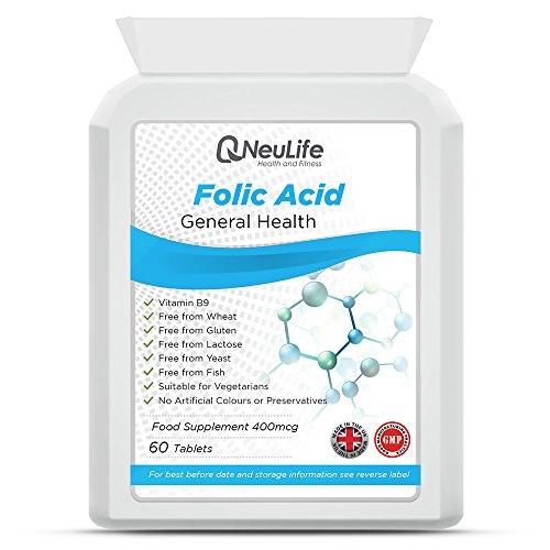 Folic Acid 400mcg x 120 Tablets | Pregnancy Care | Neulife Health & Fitness Supplements