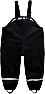 DAWILS chłopięce spodnie przeciwdeszczowe dla dziewcząt, z poliuretanu, wiatro- i wodoszczelne, bez podszewki, 92 98 104 1...