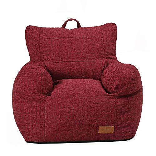 MOMIN-Home Sofá Perezoso Silla Comfort Milano Bean Bag con en Ideal para Cualquier habitación Silla de Descanso Interior (Color : Rojo, tamaño : 65 * 70 * 70cm)