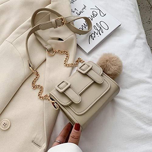 PANZZ Crossbody Bags Summer Chain Shoulder Sacs à Main Female Travel Totes Cross Body Bag, Khaki, Mini