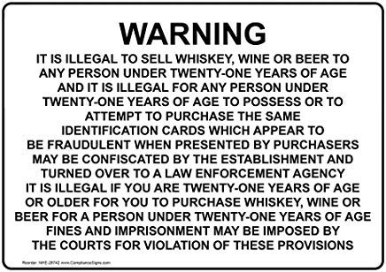 Wendana Waarschuwing Het Is Illegaal Om Verkopen Whiskey, Wijn Of Teken, Grappige Wanring Borden, Poortteken, Vandaar Yard Sign,8