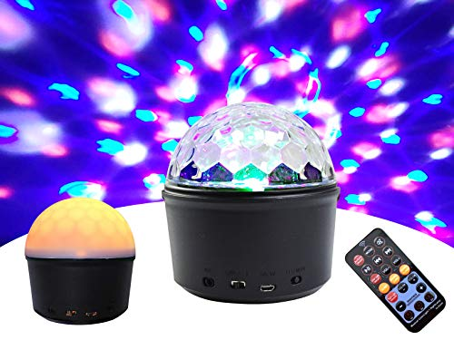 Disco Ball Party Lights, Disco Lighting 9Colors Party Lights Sound Activated Strobe Lights with Remote Control&Wireless Speaker AUX Music Player for Dancing Bar Car Club Party Kids Bedroom Christmas