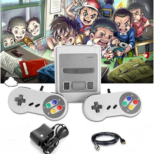 YONGQING Console de Jeu rétro HDMI,Jeu vidéo de Poche Classique TV Double Manette Filaire Joystick,Prise en Charge des Jeux 621 intégrés pour contrôleur Super Nintendo + 2 (EU)