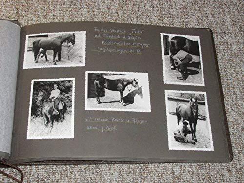 Dekoratives Fotoalbum DDR ca. 1950-1955 Reitsport