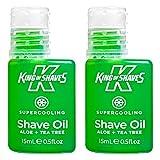 King of Shaves Aceite de afeitar superrefrescante, 15ml, paquete por dos unidades