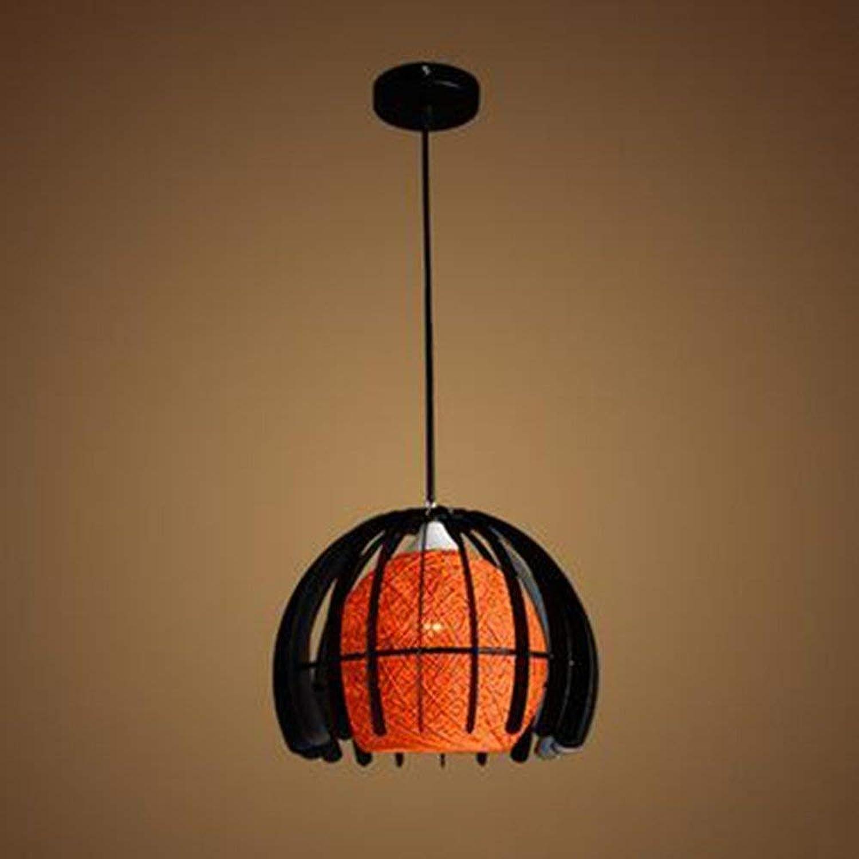 SGWH  Einfache kreative Glasabdeckung Rattan Kugel Kronleuchter Restaurant Die Schlafzimmer Kronleuchter Studie Farbe (optional) - Beleuchtung der Objekte der Deko Licht (C) Farbe