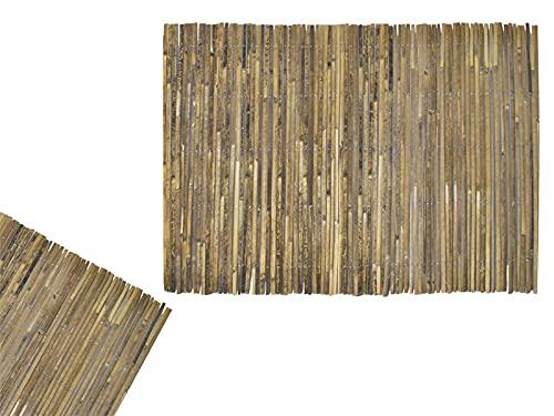 MT MALATEC Sichtschutzmatte aus Bambus 1,5x5 m Bambusmatte Windschutz Zaun für Garten Balkon Terrasse 12120