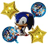 YSJJEFB Balloons Sistema de Globo de Dibujos Animados de Tema de Dibujos Animados para niños Decoración de Fiesta de cumpleaños Baby Shower Air Globos Suministros (Color : Set 4)