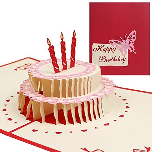LxwSin 3D Tarjeta Emergente de Boda, Tarjetas de Felicitación Cumpleaños, Tarjeta de Invitación Emergente 3D Hecha a Mano Tarjeta de Agradecimiento Emergente con Sobre para Cumpleaños Boda Aniversario
