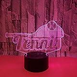 Nuevo Tenis 3D Led Lámpara USB Seven-Color Touch Led Visual Navidad Decorativa Luces Regalo Festival Celebración Lámpara de mesa