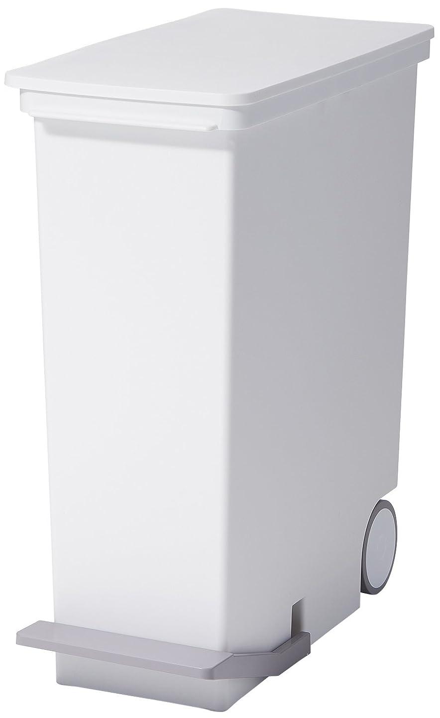 解くスカルクリットルlike-it ゴミ箱 ペダル ペール スリム 縦型 オルア ホワイト 33L LBD-14