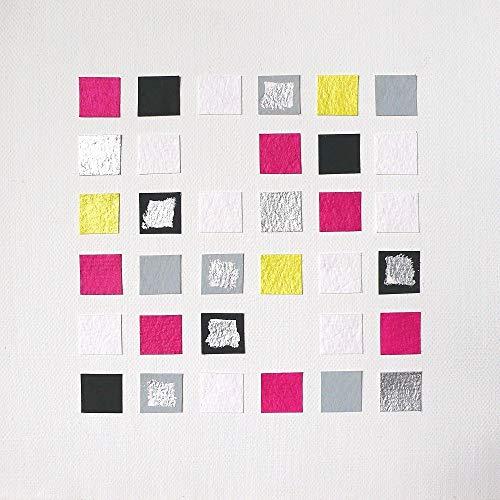 """Gemälde 20x20x3,5cm """"Momente9"""", Kunstwerk zum Aufhängen oder Hinstellen, Acrylmalerei, Collage auf Leinwand mit Holzkeilrahmen - Wandbild zur Dekoration, Geschenk, Mitbringsel Home Deko"""