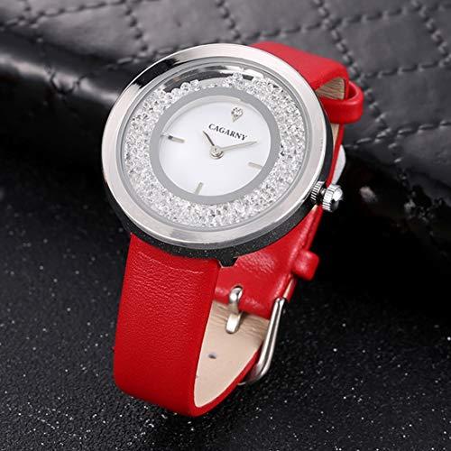 Somviersb 6878 Moda Resistente al Agua Reloj de Pulsera de Cuarzo con Banda de Cuero 2021 Último Reloj Mire el Reloj de la muñeca analógica de Cuarzo con Reloj con la Banda de aleación