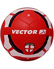 Vector X England Rubber Moulded Football, Size 5 (White/Red)