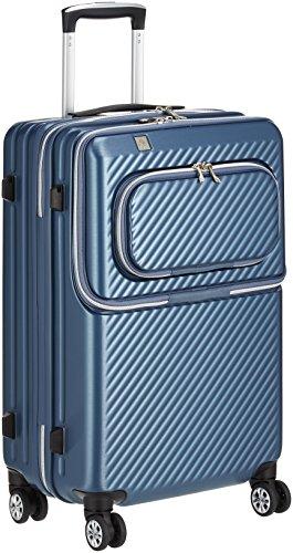 [レジェンドウォーカー] スーツケース ジッパー ハードスーツケース フロントオープン 双輪 6024-55 保証付 50L 61 cm 3.9kg ブルー