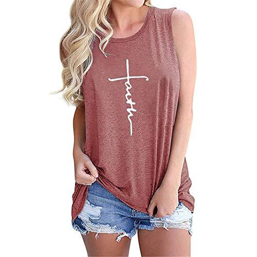 Camisa de verano para mujer, de algodón, cuello redondo, estampado de cartas, manga corta, estilo suelto H M