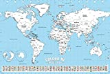 GB Eye Ltd, World Map, Colour in, Maxi Poster, 61 x 91,5 cm