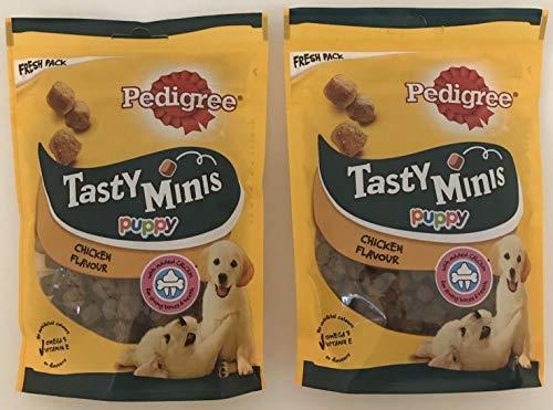 Pedigree Tasty Minis Puppy Chicken Flavour Treats 125g Bundle (2 Pack)