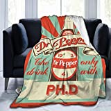 Chenjiaj Dr Pepper Soft Plush Throw Blanket Super Fuzzy Warm Lightweight Thermal Fleece Blankets for Couch Bed Sofa All Season 80'X60'