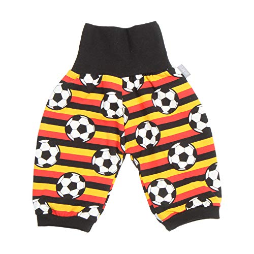 Lilakind - Pantalones bombachos 3/4 para bebé, diseño de rayas, color amarillo, rojo y negro 50/56-134/140. Fabricado en Alemania. amarillo, rojo y negro. 98-104 cm