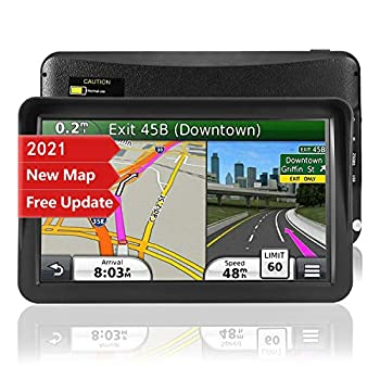 GPS Navigation for Car,Latest 2021 Map ,9 inch Touch Screen Real Voice Spoken Turn-by-Turn Direction Reminding Navigation System for Cars Vehicle GPS Satellite Navigator with Free Lifetime Map Update