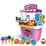 GizmoVine jouet enfant,cuisine enfant 31pcs Crème Glacée Jeu de Simulation Alimentaire jeux educatif enfant 2 ans,dinette enfant Jouets Rôle Playset pour jouet fille 2 3 4 ans