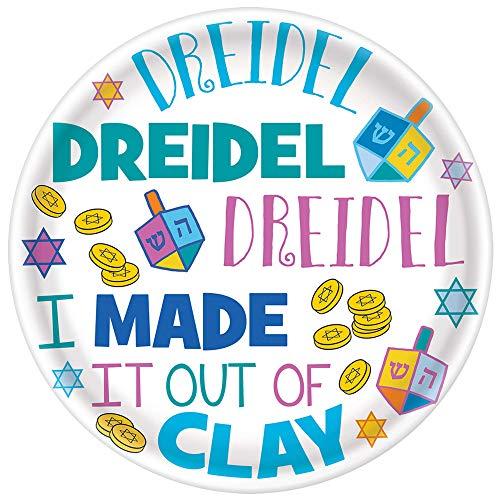Hanukkah Dreidel Melamine Plate, 10' - 1 Pc.