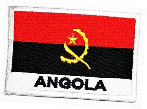 Angola-Flagge, ländlicher Aufnäher, bestickt, Angola-Flagge, Nationalemblem, zum Aufbügeln oder Aufnähen, Militäruniform, Emblem, Logo, Jeans, Jacke, Polo, T-Shirt, Hut, Rucksäcke (03)
