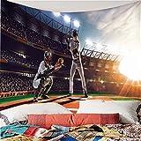 Weibing Arazzo con Stampa a Colori 3D Stile Moderno Grande Stadio Gioco di Baseball Modello di Sfondo Decorazioni per la casa arazzi Wall Art per camere 260(L) x240(H) cm