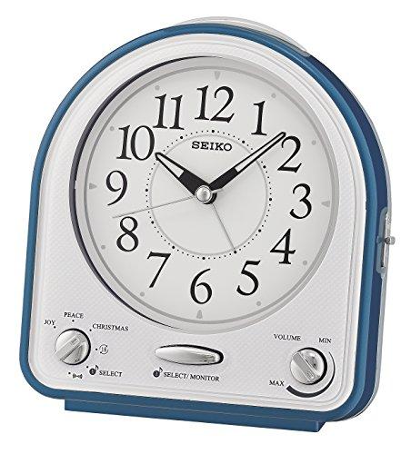 Seiko Wecker blau Kunststoff Schleichende Sekunde QHP003L