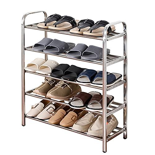 Metal Estructura De Zapatos Organizador De La Bastidor, 5 Niveles Unidad De Almacenamiento De Trabajo Pesado, Montaje Rápido No Se Requieren Herramientas, Rack De Zapatos De Alta Capacidad (l) 100 Cm